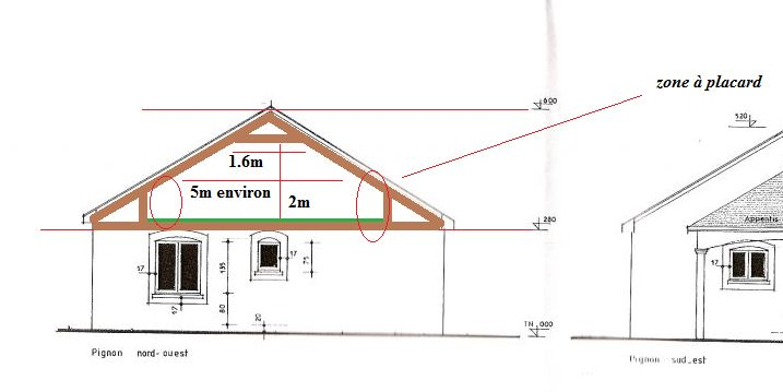 Besoin d 39 aide sur plan pour transformer charpente 14 - Calcul pente de toit ...