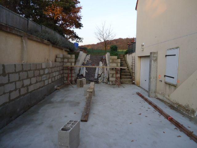 élévation des murs du sous sol