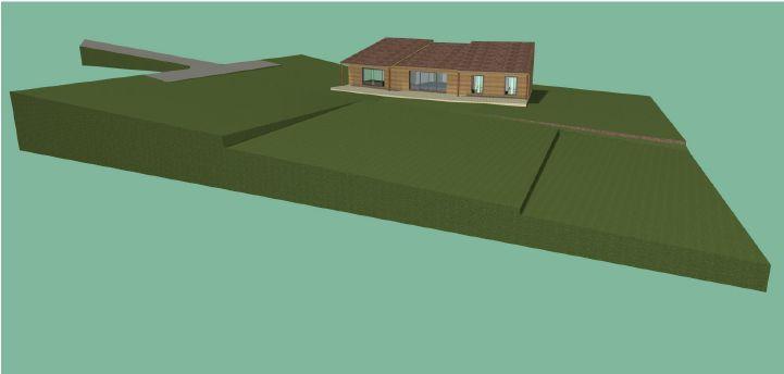 Vue 3D du terrain   maison
