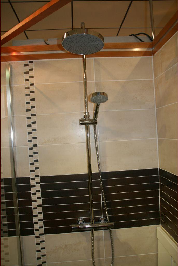 équipement de la douche italienne
