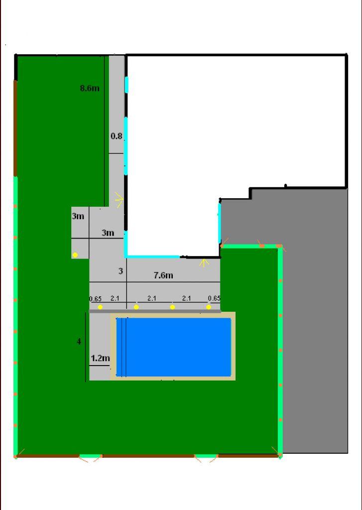 Plan aménagement terrasse