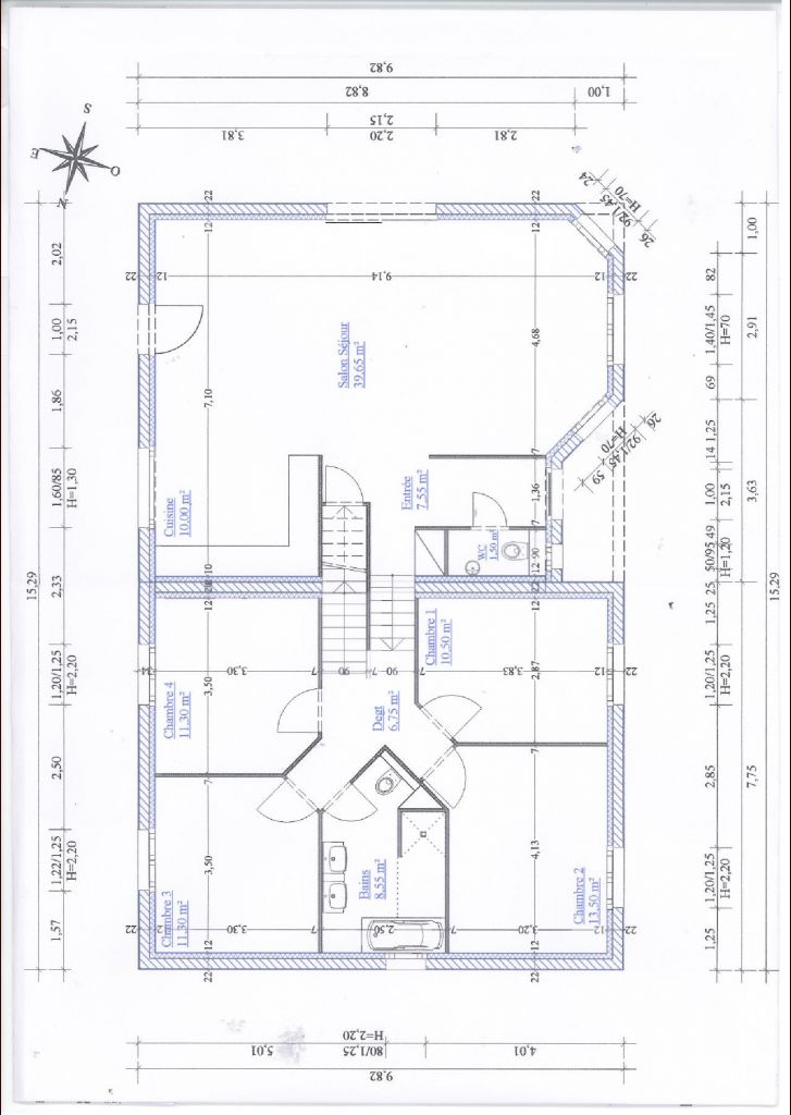Fabuleux Plan De Maison En H. Finest Plans Vendre Bungalow With Plan De  US06