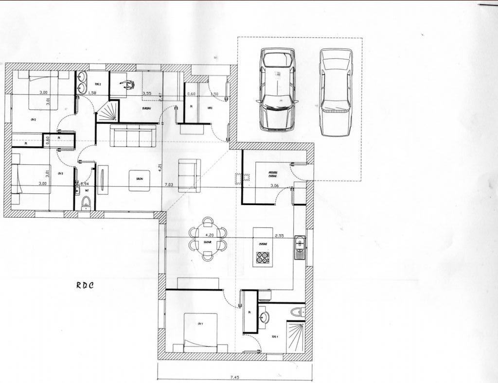Stunning view images plan maison plain pied m plain pied for Plan maison 80m2 plein pied
