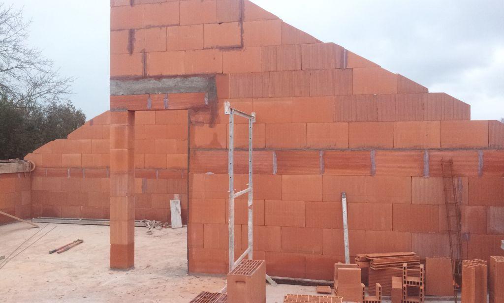 elevation des murs de l 39 tage visitez la construction en 360 el vation des pignons. Black Bedroom Furniture Sets. Home Design Ideas