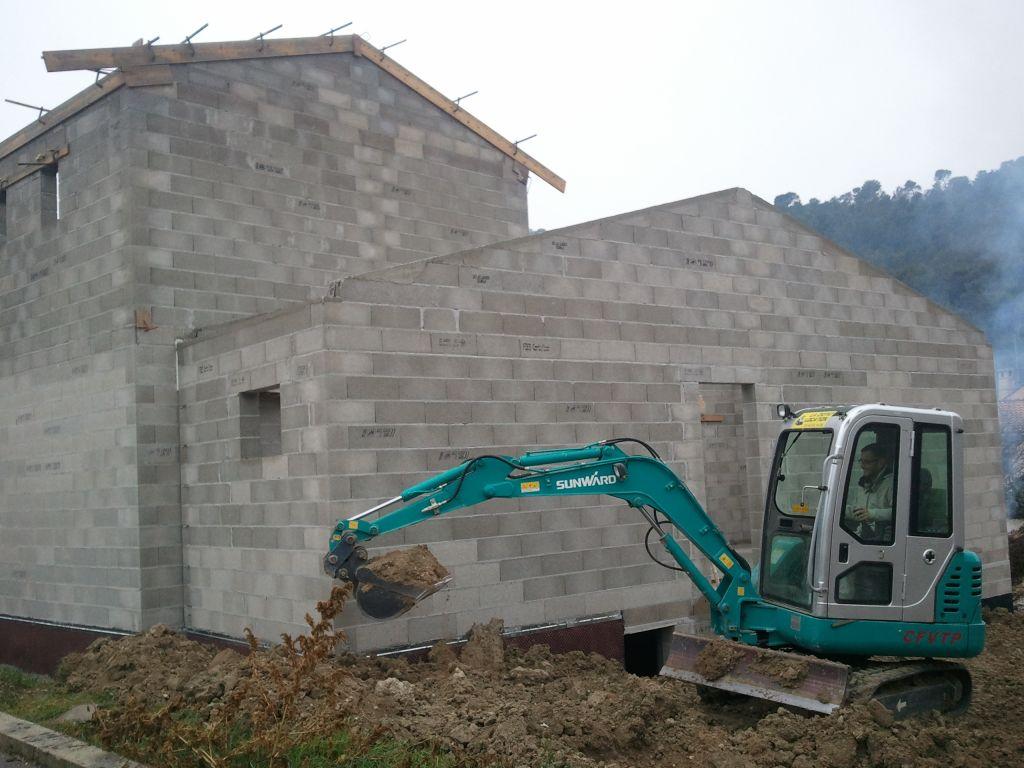 Terrassement côté facade N