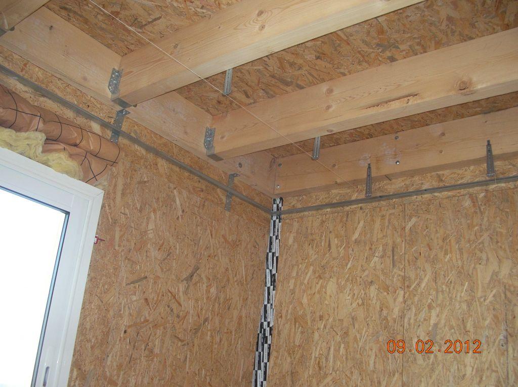Préparation du faux plafond