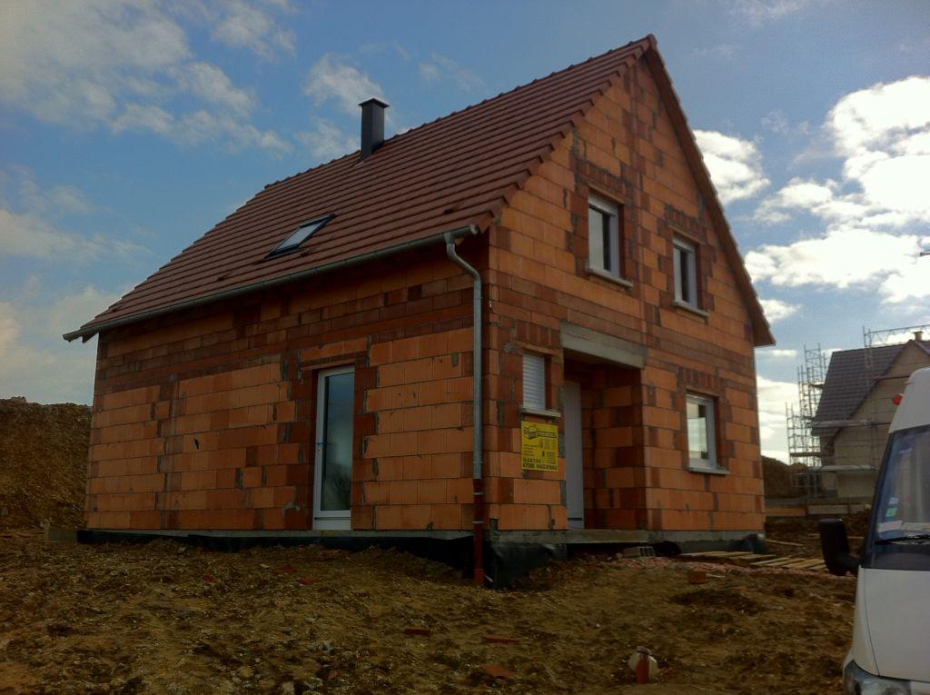 Travaux commencés fin octobre 2011 - Avancée de la maison le 13 Janvier 2012