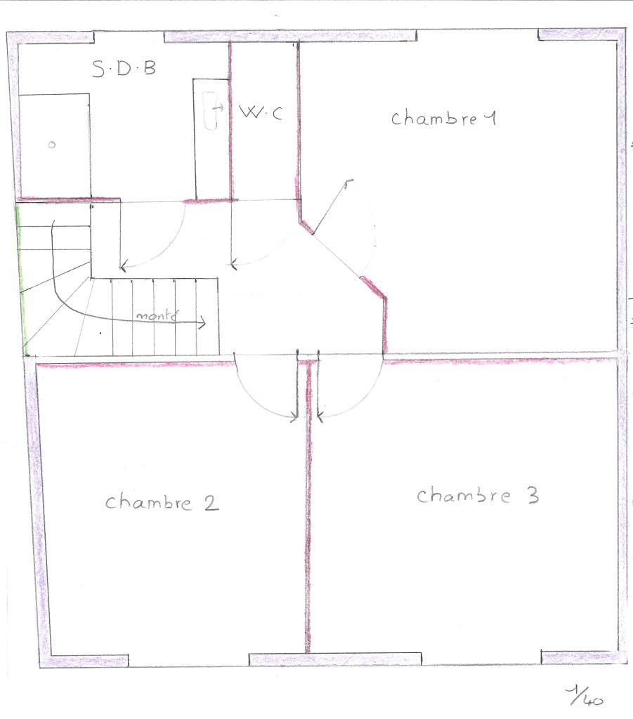 voici le plan du future étage