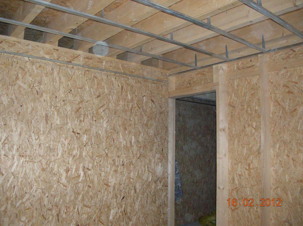 Préparation du plafond de la cuisine