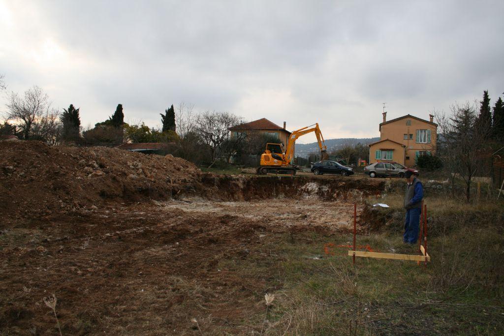 Terrassement de la maison quasiement fini
