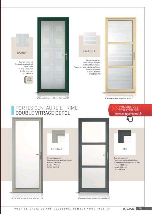 Porte d 39 entr e k line choix prix devis 97 messages for Fenetre kline prix