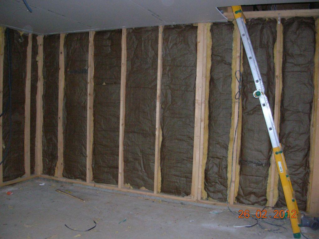 Isolation du mur séparant le salon/SAM de la chambre
