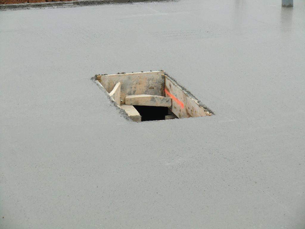 le trou d'accès au vide sanitaire