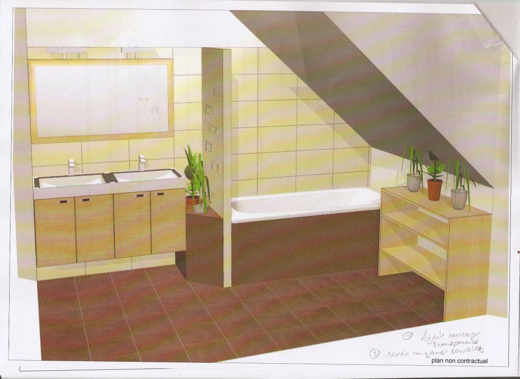Vue 3D d'un projet pour notre future Salle de Bain.