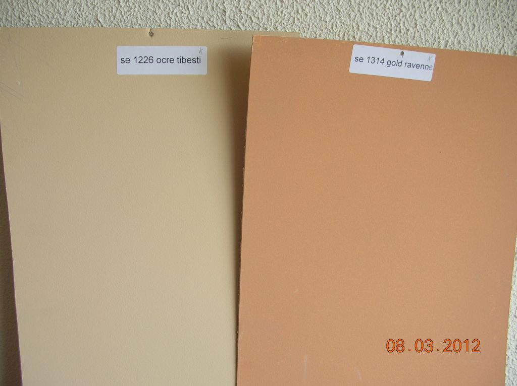 Choix des 2 couleurs de façades