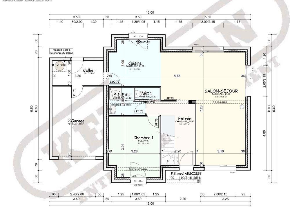 plan de maison kervran