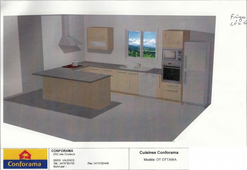 Voici le plan de notre cuisine modèle OTTAWA