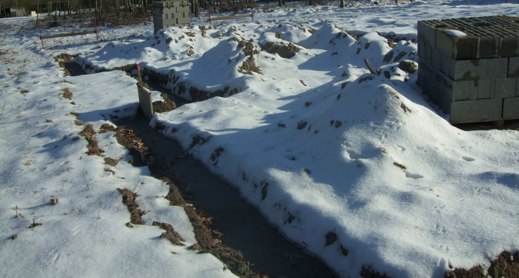 semelles béton sous la neige...