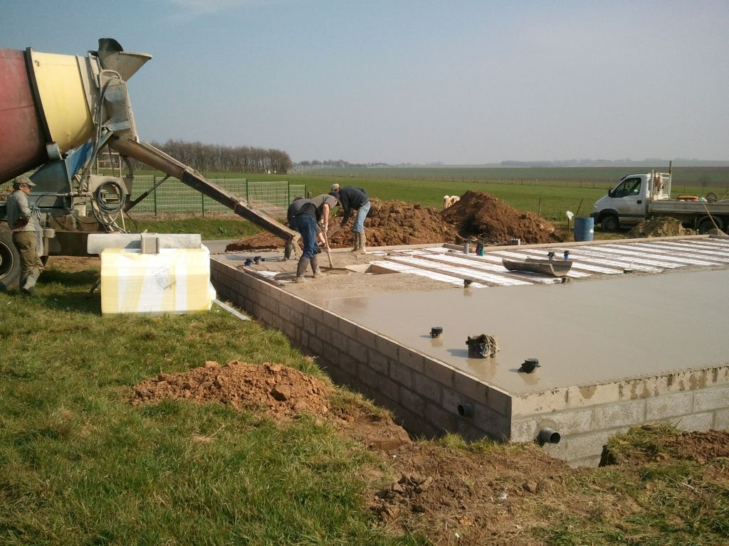 D but du terrassement fondation l vation vs et for Sechage fondation