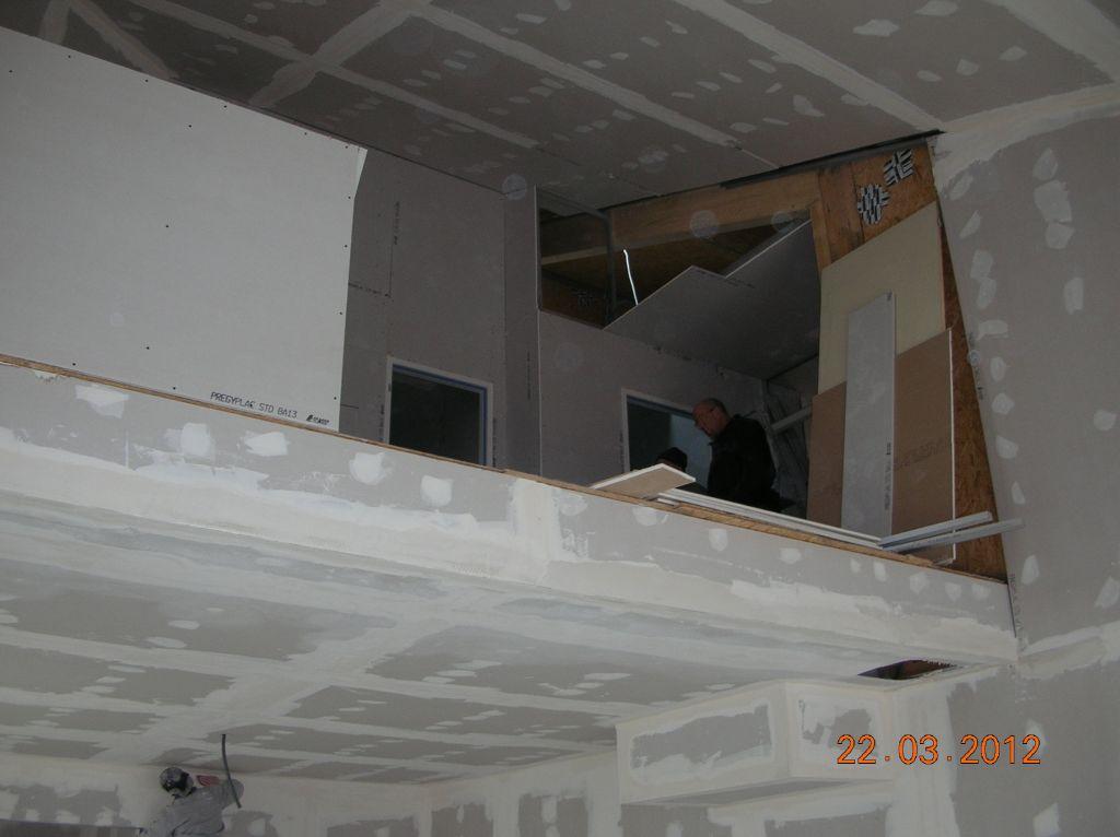 L'étage est en cours