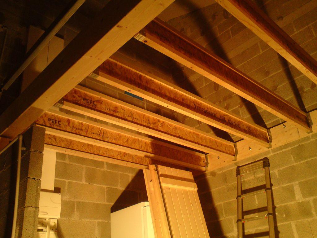 Am nagement plancher dans un garage la r alisation - Construire un plancher bois dans un garage ...