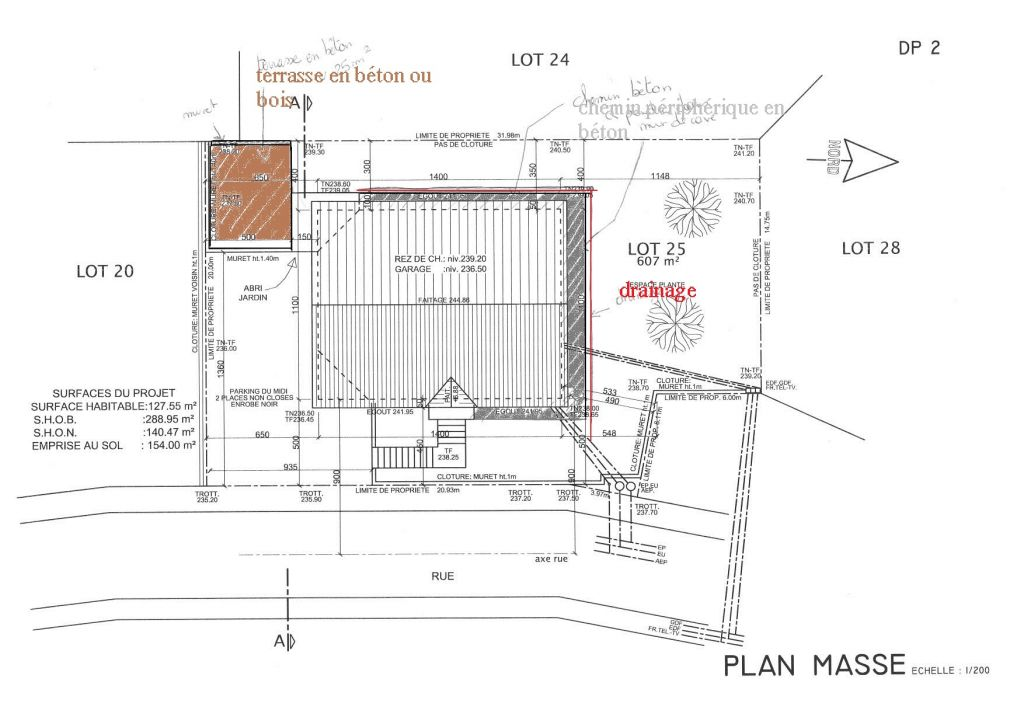 plan pour future terrasse