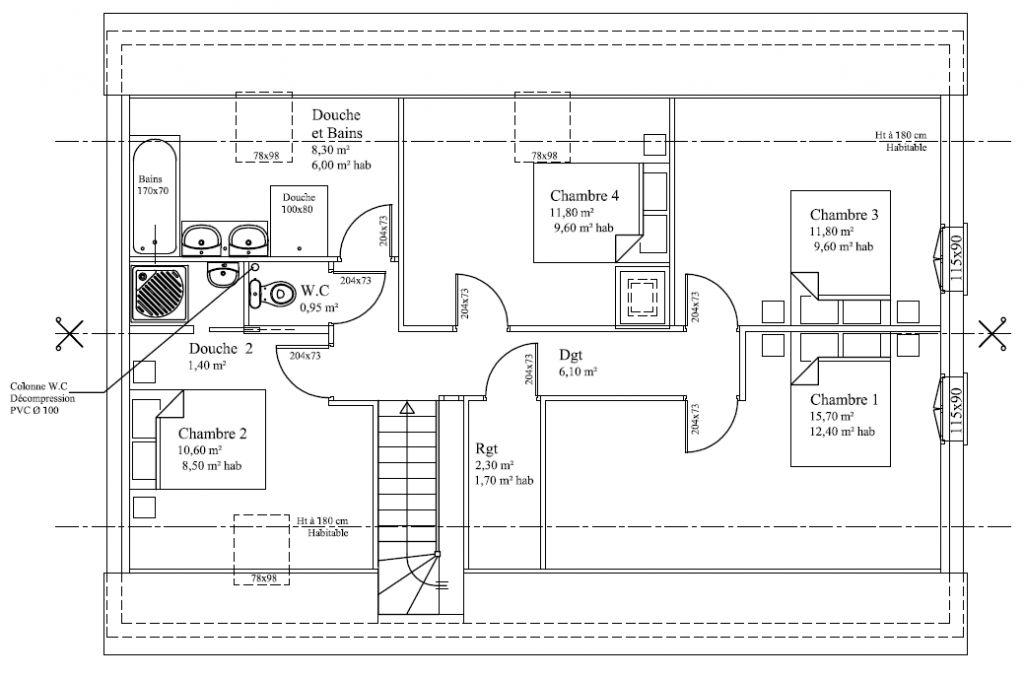 Top Avis sur plans RDC et Ss-Combles env.120m² (BBC) - 4 messages VR51