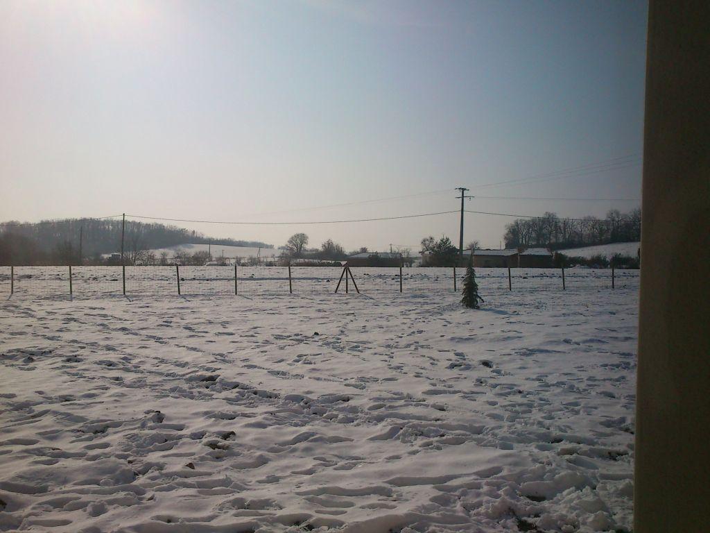 notre maison sous la neige
