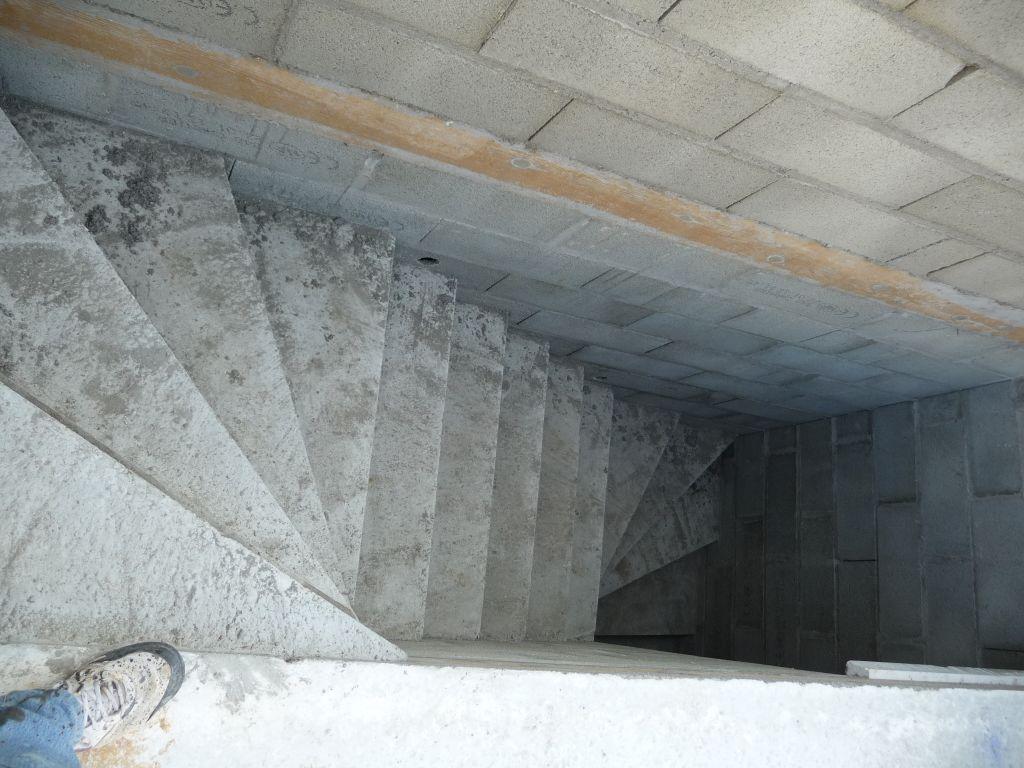 Escalier en cours de sechage