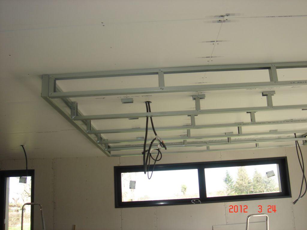 Faux plafond du salon