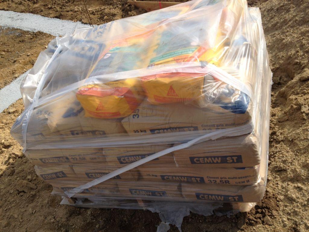 Livraison des matériaux pour le vide sanitaire !