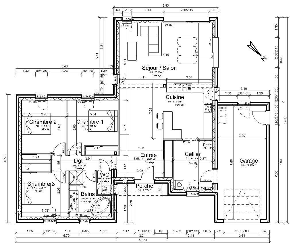 Plans rez-de-chaussée - Vendee (85) - mars 2012
