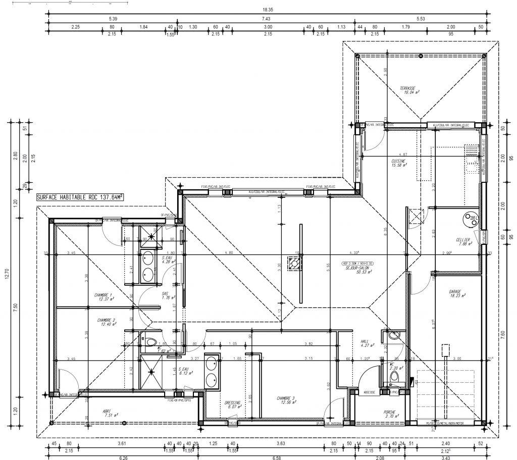Avant projet 4 - Modifications coin nuit et agrandissement garage