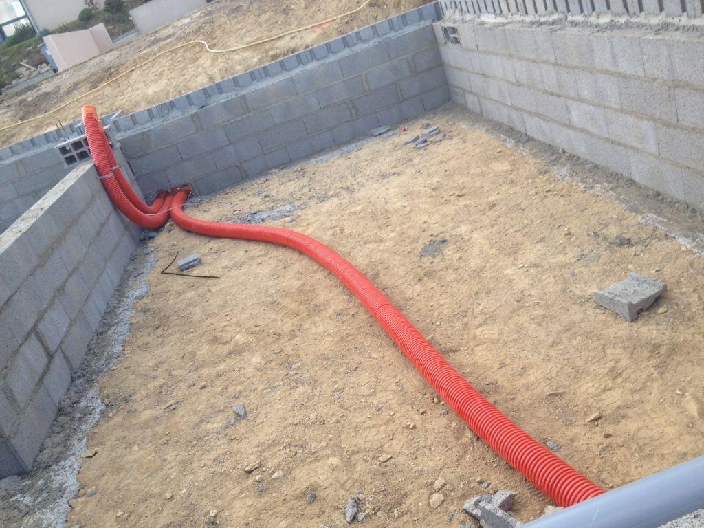 Vide sanitaire : pose plomberie / élec