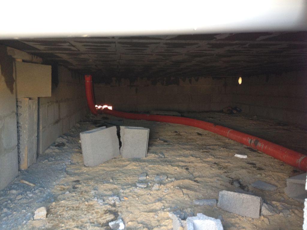 Vide sanitaire pose plomberie lec isolation du vide sanitaire avant co - Isolation sous vide sanitaire ...
