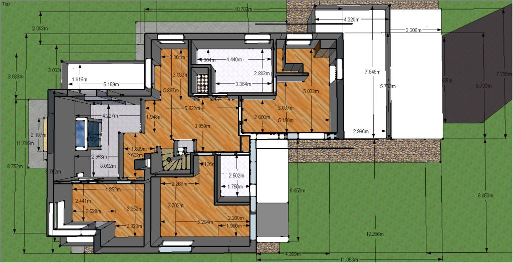 plan maison etage 180m2