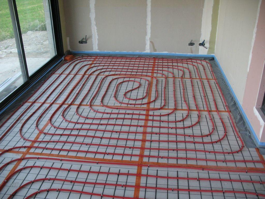 plancher chauffant pos pr t pour le coulage les travaux de notre maison. Black Bedroom Furniture Sets. Home Design Ideas