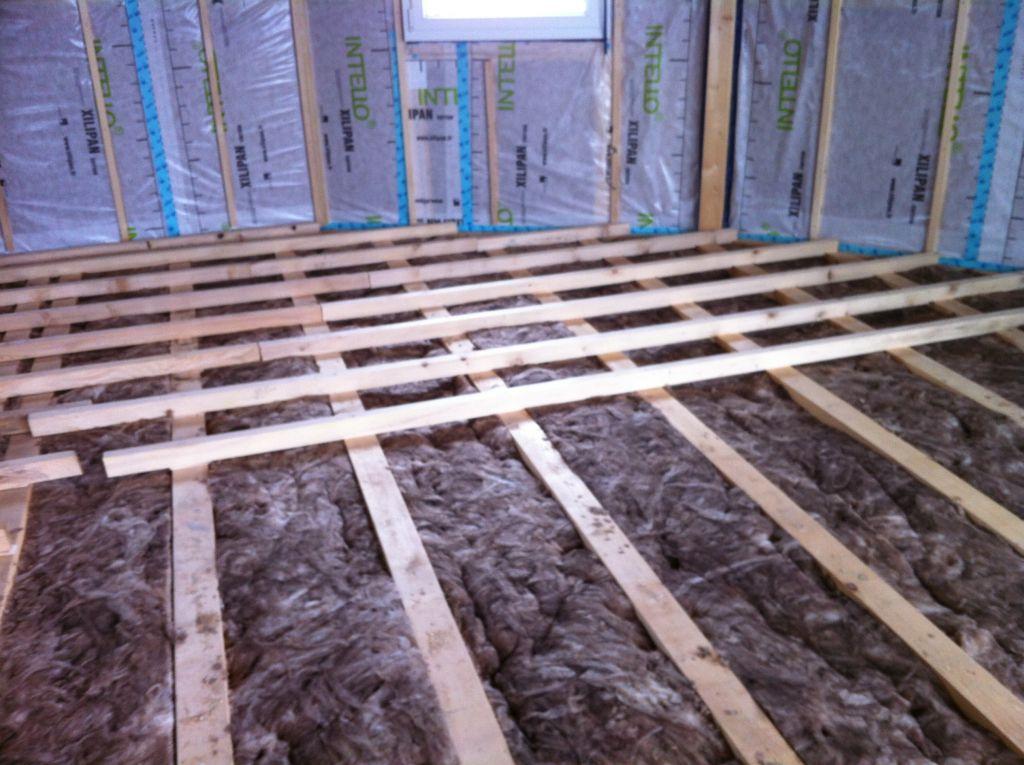 Isolation plancher et pose lambourdes
