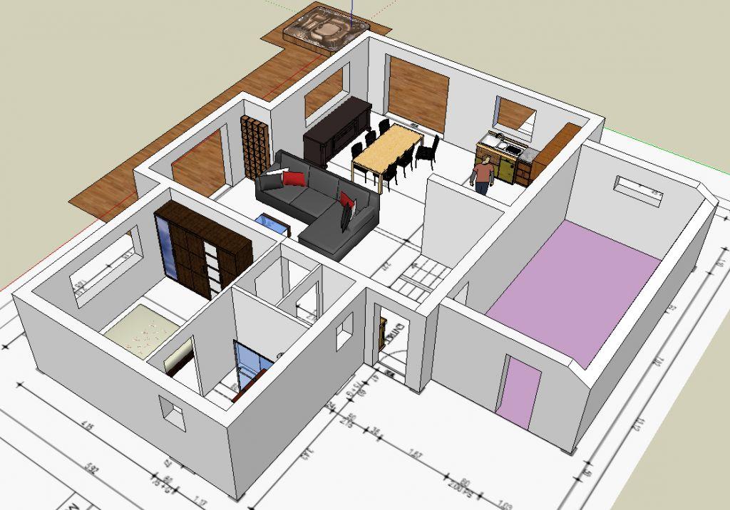 Internet en place le vdi marche maison ossature bois for Plan maison sketchup