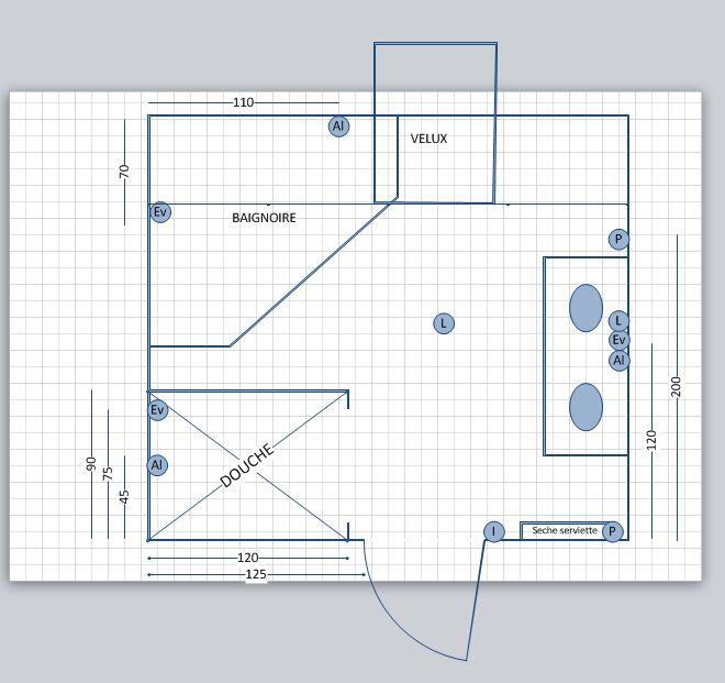 Avis plan de salle de bain sous combles 10 messages for Salle de bain comble photo