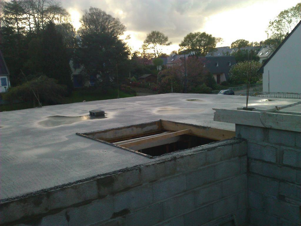 Pose du plancher hourdis ferraillage de la terrasse for Murs exterieurs terrasse