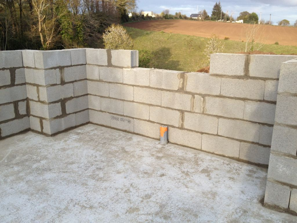 Elévation des murs, première journée !