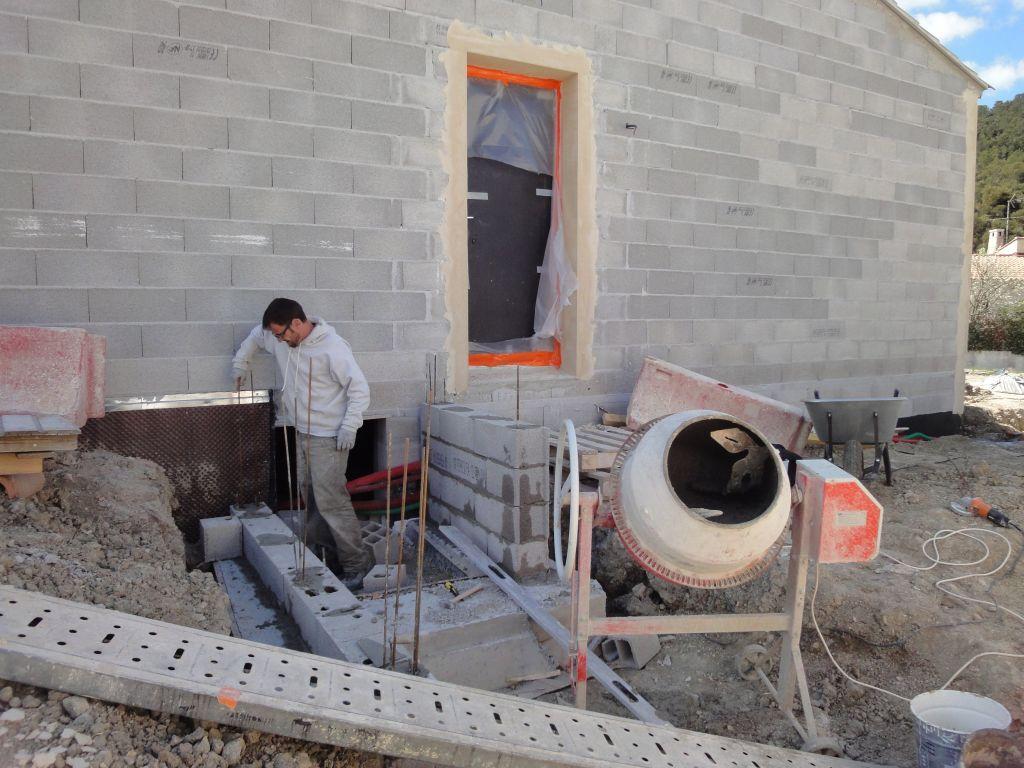 Montage murs entrée