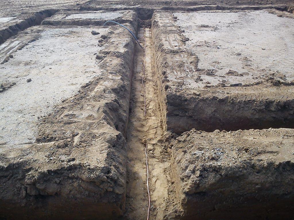 Mise en place câble de terre