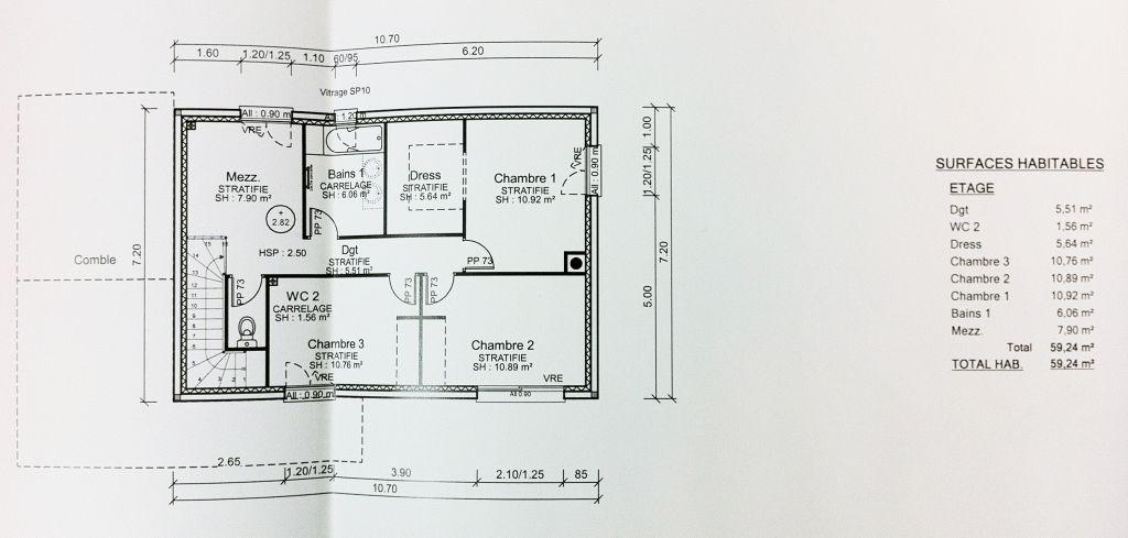 Avis sur les emplacement des menuiseries pour 122 m r 1 for Dimension porte fenetre 2 vantaux