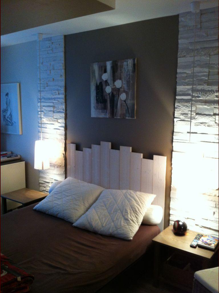 Chambre d'adultes 18m2 teintes murales beige - Verquin (Pas De Calais - 62) - avril 2012