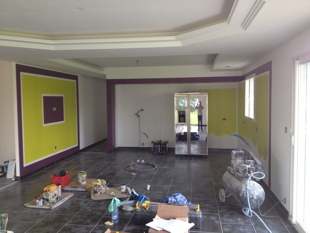 Peinture cuisine peinture salle salon montage cuisine for Quel peinture pour cuisine