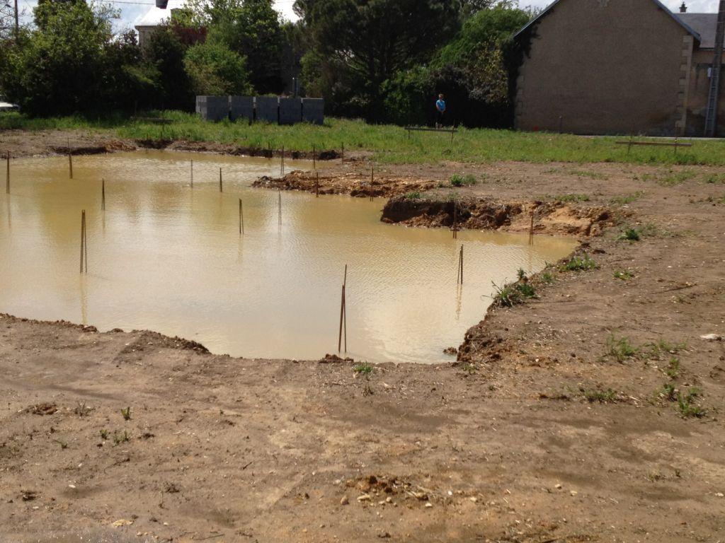 La pluie a créé une vraie piscine !