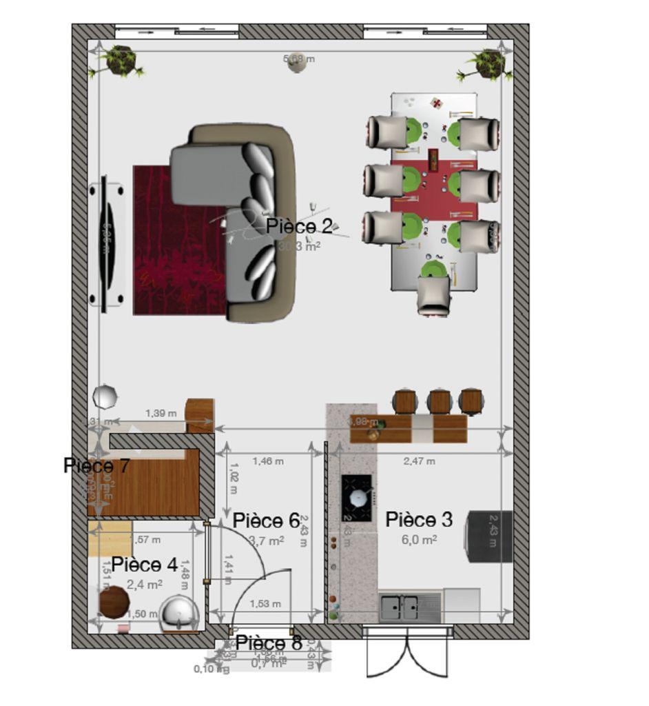 Amenagement cuisine 7m2 trendy m et installer une cuisine et une salle de bains dans m with for Amenager une salle de bain de 7m2