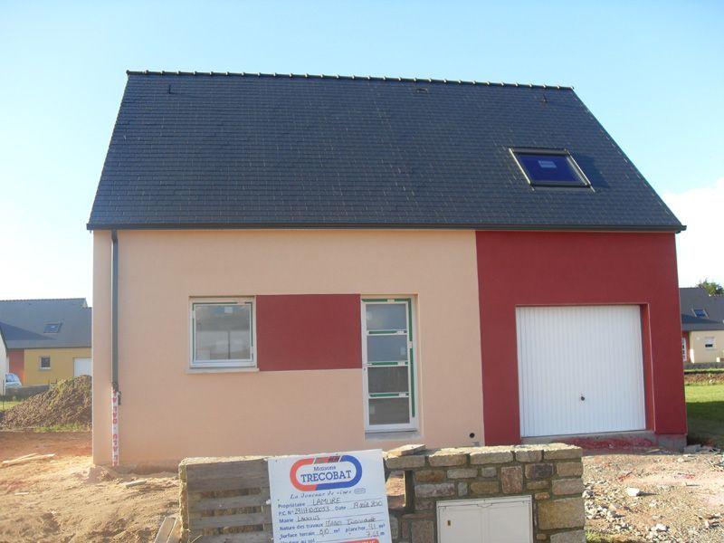 Enduit hydrofuge de soubassement maison bbc type contemporaine classique ha - Enduit sur brique rouge ...